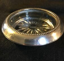Vintage. Sterling Silver cRYSTAL Coaster Wine