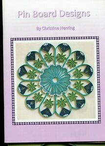 New PIN BOARD DESIGNS Pattern Book  by C.Herring 35 Husking Designs Soft Cover
