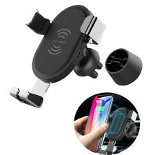 USB Qi Wireless Car Charger Magnetic Air Vent Mount Holder For iPhone X 8 Plus
