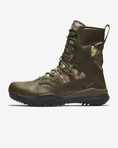 "Nike SFB Field 2 8"" RealTree Camo Gore-Tex Leather Boots AQ1203-200 Size 9 NEW"