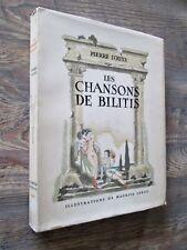 Les chansons de Bilitis. Illustrations de maurice LEROY.