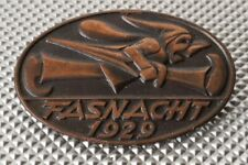 Fasnacht Plakette 1929 Basel (Luzern, Zürich)