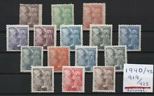 ESPAÑA : AÑO 1940 /45  EDIFIL 919 / 935  NUEVO SIN  FIJASELLOS**   FRANCO