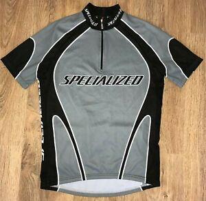 Specialized Grey Gray Black cycling jersey size S
