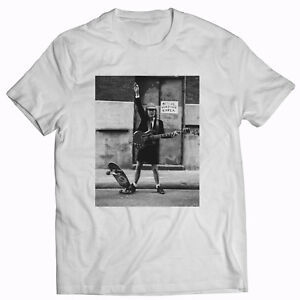 ACDC Angus Young Skate White T-shirt