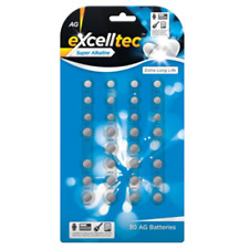 Excelltec Button Batteries Pk 30 AG1 AG3 AG4 AG10 AG12 AG13  Alkaline Battery