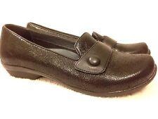 Dankso Womens black sparkle texture slip on black shoes size 39 Nice!!