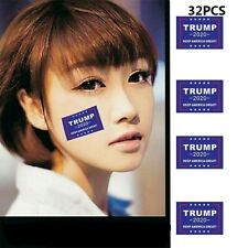 32Pcs Donald Trump Face Clothes Body Stickers 2020 Keep America Great Decals