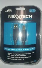 Nexxtech Ultimate 6 Ft Hi-Speed USB 2.0 Gold Cable