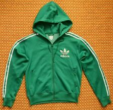 Adidas, Mens Green, Hoodie Sweatshirt, Size Medium, Full Zipper