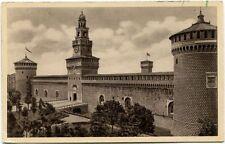 1937 Milano castello sforzesco Kansas USA Visitate l'Italia FP B/N VG