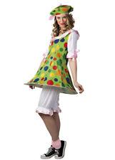 Womens Spotty Fiesta Clown Lady Costume