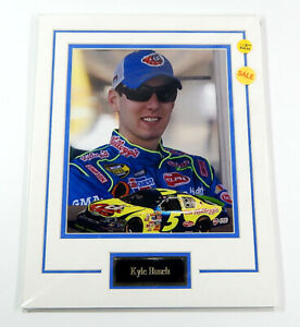 Kyle Busch NASCAR Matted Photo & Name Plate 11x14 Ideal For Framing