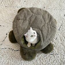 Cute Turtle Shape Pet Dog Cat House Beds Tent Cushion Mat Removable Kitty Indoor