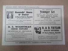 Advertising blotter, Aspendale, Edithvale, vintage