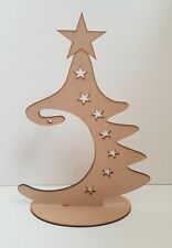 Baubles Wooden CHRISTMAS BAUBLE TREE HANGER Free Standing plaque xmas MDF S412