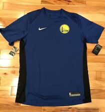 91a7bfd94 Nike Golden State Warriors Blue Black Dri-Fit Shooting Shirt 877442 495  Men s XL