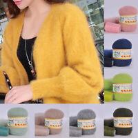 Long Plush Mink Cashmere Yarn Knitting Crochet Thread for Cardigan Scarf 50g+20g
