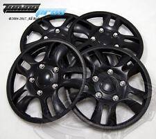 "Hubcap 15"" Inch Wheel Rim Skin Cover 4pcs Set Matte Black -Style 006 15 Inches-"