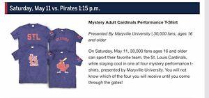 St. Louis Cardinals Mystery Adult Performance T-Shirt  SGA 5/11/19