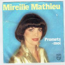 """Mireille MATHIEU Vinyle 45 tours 7"""" PROMETS MOI - PHILIPS 6010407 Frais Réduit"""