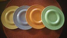 NEW Set of 4 - LIZ ROSS STONEWARE Saucers THE MONKEY & THE PEDDLER  PLATES 2003
