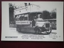 POSTCARD RP LIVERPOOL CORPORATION TILLING STEVENS BUS  TTA1 NO K 1593