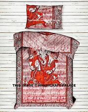 Indian Lord Ganesha Mandala Quilt Duvet Cover Bedding Cotton Doona Cover Set