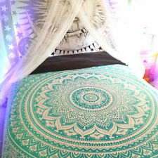 Hippie Ombre Mandala Indian Bedspread Boho Wall Hanging Tapestry Twin Bed Cover