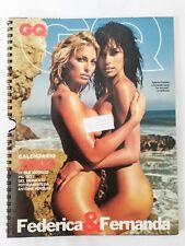 ♥ CALENDARIO GQ Federica Fontana & Fernanda Lessa 2003 foto Antoine Verglas