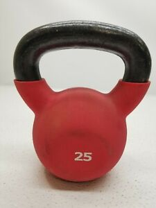 25 lb Single Kettlebell Golds Gym Red 25 Pounds