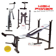 HIGH POWER - PANCA PESI palestra AD 560 - Richiudibile 0,5 mq Schienale 5 Incl.