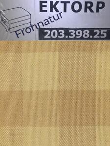 Ikea EKTORP Bezug für Hocker 203.398.25 Skaftarp gelb neu Wechselbezug Husse