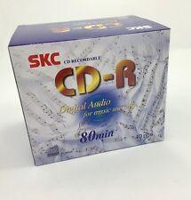 10 Pack SKC CD-R Consumer Audio 80 minute Blank Music CD Plastic Jewel CD case