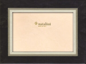 Natalini Fluo Grigio Gray Hand Made Italy Marquetry Wood 5x7 Photo Picture Frame