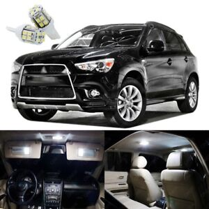 10 x Xenon White LED Lights Package Kit Mitsubishi Outlander Sport 2011 - 2017