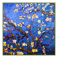 Impressionist Vincent Van Gogh's Almond Branches Counted Cross Stitch Pattern