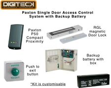 Paxton Single Door Access Control System w/ Backup Battery Proximity Reader Fob