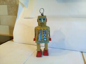 Tin Plate Clockwork Robot  Needs Attention To Motor Looking Good On Display With