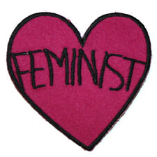 Feminist Heart Iron On Patch Embroidered Sew On Feminism riot grrrl