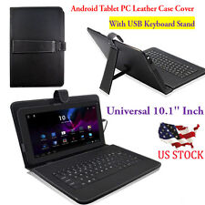 USB Keyboard Stand For 10.1'' Inch Android Tablet PC With Leather Case Cover