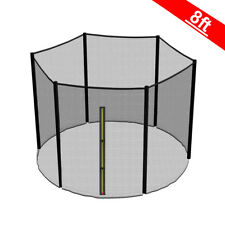 8ft Trampoline Replacement Safety Net Enclosure Surround Outside Netting