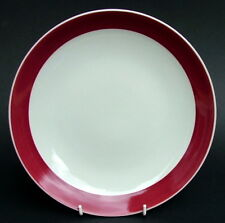 Wedgwood Windsor Gret T480 Pattern Maroon Coupe Shape Plate 24cmw - Looks in VGC