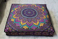 """Large 35"""" Square Floor Pillow Cover Mandala Cushion Cover Dog Bed Cover"""
