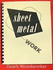How To Do Sheet Metal Work Handbook Cutting Soldering Bending Forming 0967