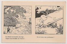 Carte postale ancienne Dessin Chasse Canard l'Age Heureux CPA