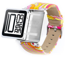 iWatchz Psychedelic Pink Armband für Apple iPod Nano 6 ,Stoff,70er Pucci Muster