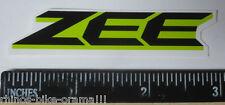 "3"" ZEE GREEN Shimano Frame Mountain Fork Shox Parts MTB Bike Race DECAL STICKER"
