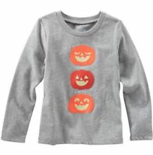 Oshkosh Originals NEW Toddler Girl Glow in Dark Halloween Pumpkin Tee Gray 5T