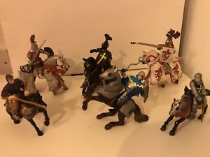 Schleich and Papo Knights and Horses x 6